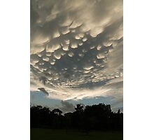 Bizarre Mammatus Clouds After a Storm Photographic Print