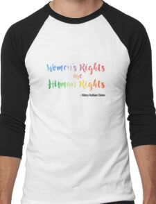 Human Rights Men's Baseball ¾ T-Shirt