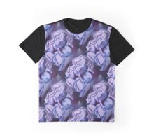 Blue Madonna and Child Graphic T-Shirt
