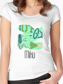 PictoMiku  Women's Fitted Scoop T-Shirt