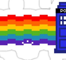 Police Box Rainbow Flyer Sticker