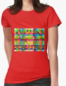 Colorful vector sticky notes Womens Fitted T-Shirt