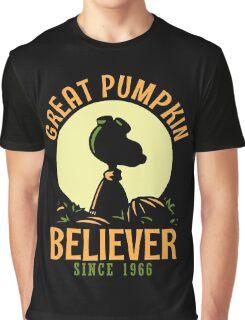 Great Pumpkin Believer, Funny Halloween Custom For Men And Women Graphic T-Shirt