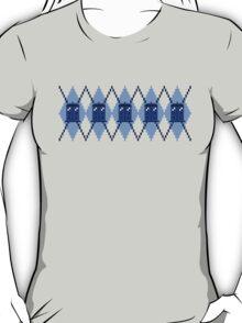 Argyle Police Box Pixels T-Shirt