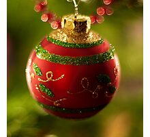 Christmas Bauble Photographic Print