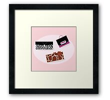 Collection of women fashion hand bags  Framed Print