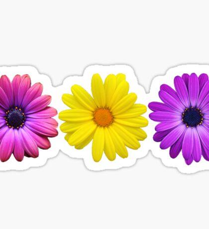 Three Little Flowers Sticker