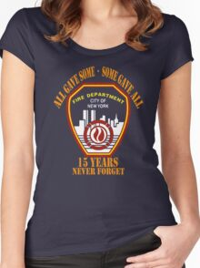 9.11 FDNY Never Forget All Gave Some - Some Gave All T-Shirt Women's Fitted Scoop T-Shirt