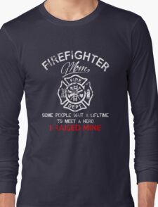 Firefighter Mom T-Shirt Long Sleeve T-Shirt