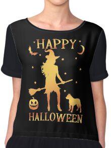Happy Halloween, Funny Halloween Custom Gift For Men Or Women Chiffon Top