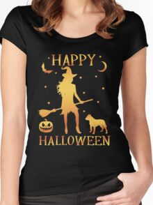 Happy Halloween, Funny Halloween Custom Gift For Men Or Women Women's Fitted Scoop T-Shirt