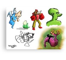 Timmy the Cyclops and Friends Canvas Print