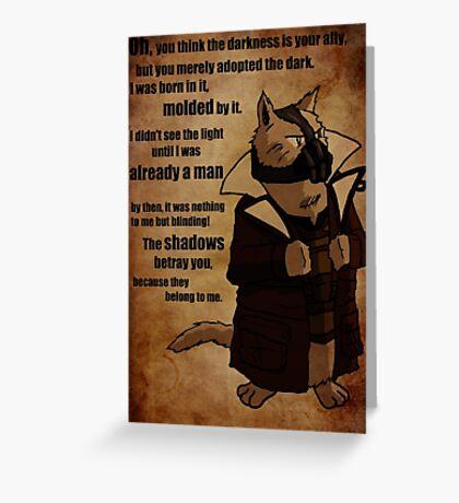 Bane's Cat Rises! Greeting Card