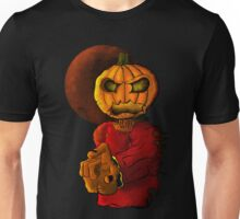 Evil pumpkin head Halloween monster Unisex T-Shirt