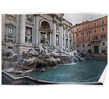 Rome's Fabulous Fountains - Trevi Fountain, No Tourists Poster