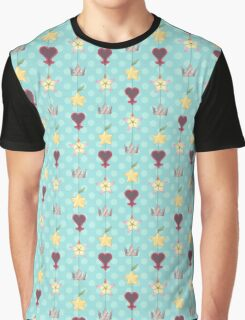 KH Destiny Trio Pattern - Blue Graphic T-Shirt