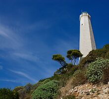 Lighthouse at Saint-Jean-Cap-Ferrat, France, French Riviera by Georgia Mizuleva