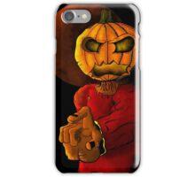 Evil pumpkin head Halloween monster iPhone Case/Skin