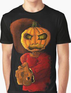 Evil pumpkin head Halloween monster Graphic T-Shirt