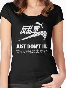 JUST DON'T IT. Women's Fitted Scoop T-Shirt