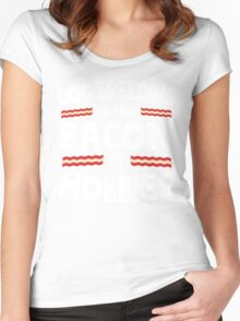 Dog Breeding Bacon of Hobbies Women's Fitted Scoop T-Shirt