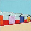 Beach Huts  by Adam Regester