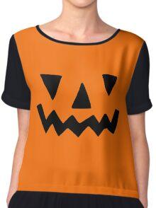 Pumpkin Face Chiffon Top