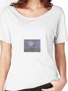 """""""Edisto Beach Red Moon"""" Women's Relaxed Fit T-Shirt"""