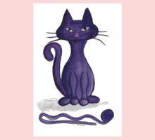 Purple Cat Kids Clothes