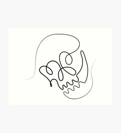 One Line Skull Art Print