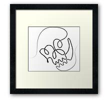 One Line Skull Framed Print