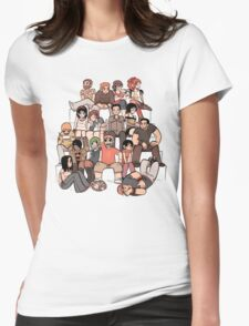 Scott Pilgrim characters Womens Fitted T-Shirt