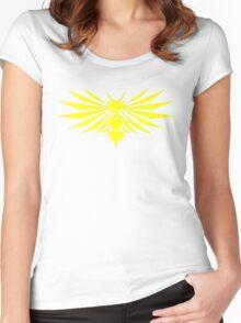 Yellow Bird - Team Instinct - Pokemon Women's Fitted Scoop T-Shirt