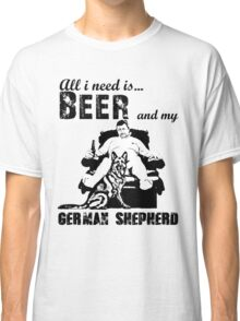 beer and German shepherd Classic T-Shirt