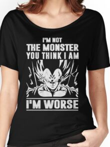 The DragonBall - Vegeta I'm Not Worse Women's Relaxed Fit T-Shirt