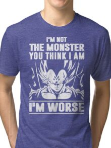 The DragonBall - Vegeta I'm Not Worse Tri-blend T-Shirt