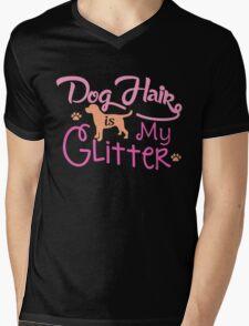 Dog Hair Is My Glitter Mens V-Neck T-Shirt