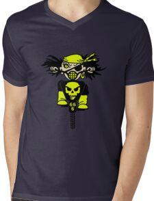 BMX Biker Pirate VRS2 Mens V-Neck T-Shirt