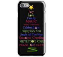 Holiday Tree - Black iPhone Case/Skin
