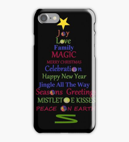 Holiday Tree - Black iPhone Case/Skin