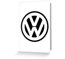 VW Logo Greeting Card