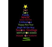 Holiday Tree - Black Photographic Print
