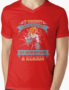 The DragonBall - Super SaiYan Mens V-Neck T-Shirt