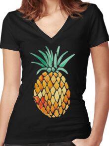 Pineapple Women's Fitted V-Neck T-Shirt