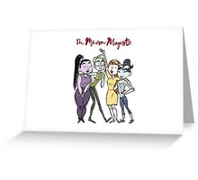 The Mean Magenta + Girls Waving Greeting Card