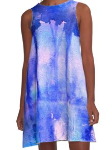 Morning Mist in Blue A-Line Dress