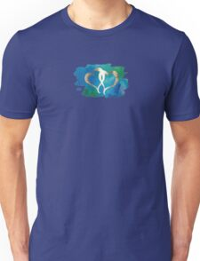 Two Gold Hearts on Watercolor Background Unisex T-Shirt