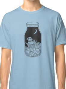 Dog in the bottle black and white Classic T-Shirt