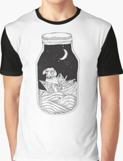 Dog in the bottle black and white Graphic T-Shirt