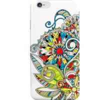 Abstract vector floral and ornamental item background iPhone Case/Skin